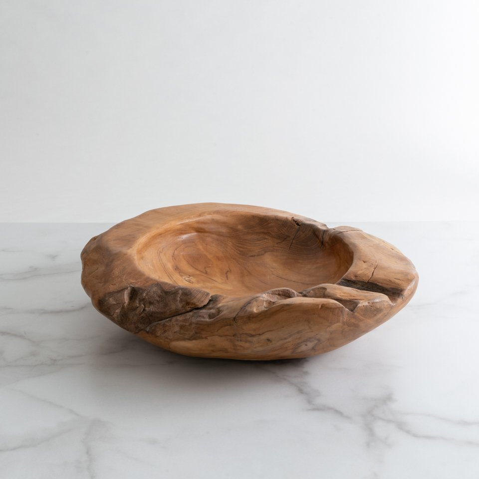 NATURAL BALI WOOD BOWL {LARGE}