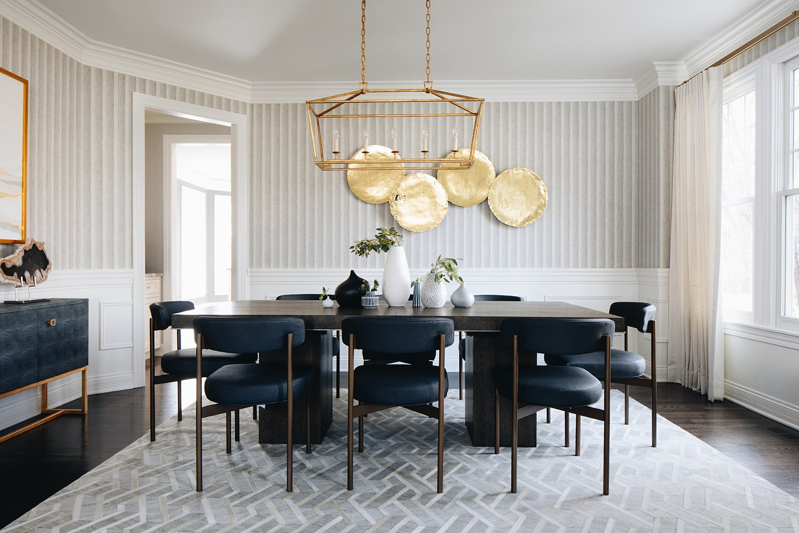 wide shot of luxury dining room remodel