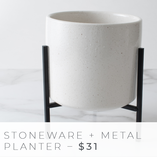 Shop The Look: Group Effort/The Office - Stoneware Metal Planter