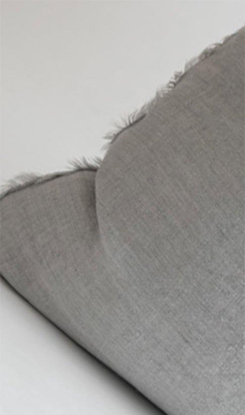 Lina Linen Pillow - Flint Grey