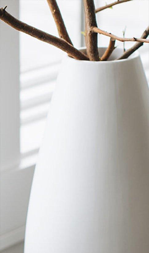 Ceramic Vase White