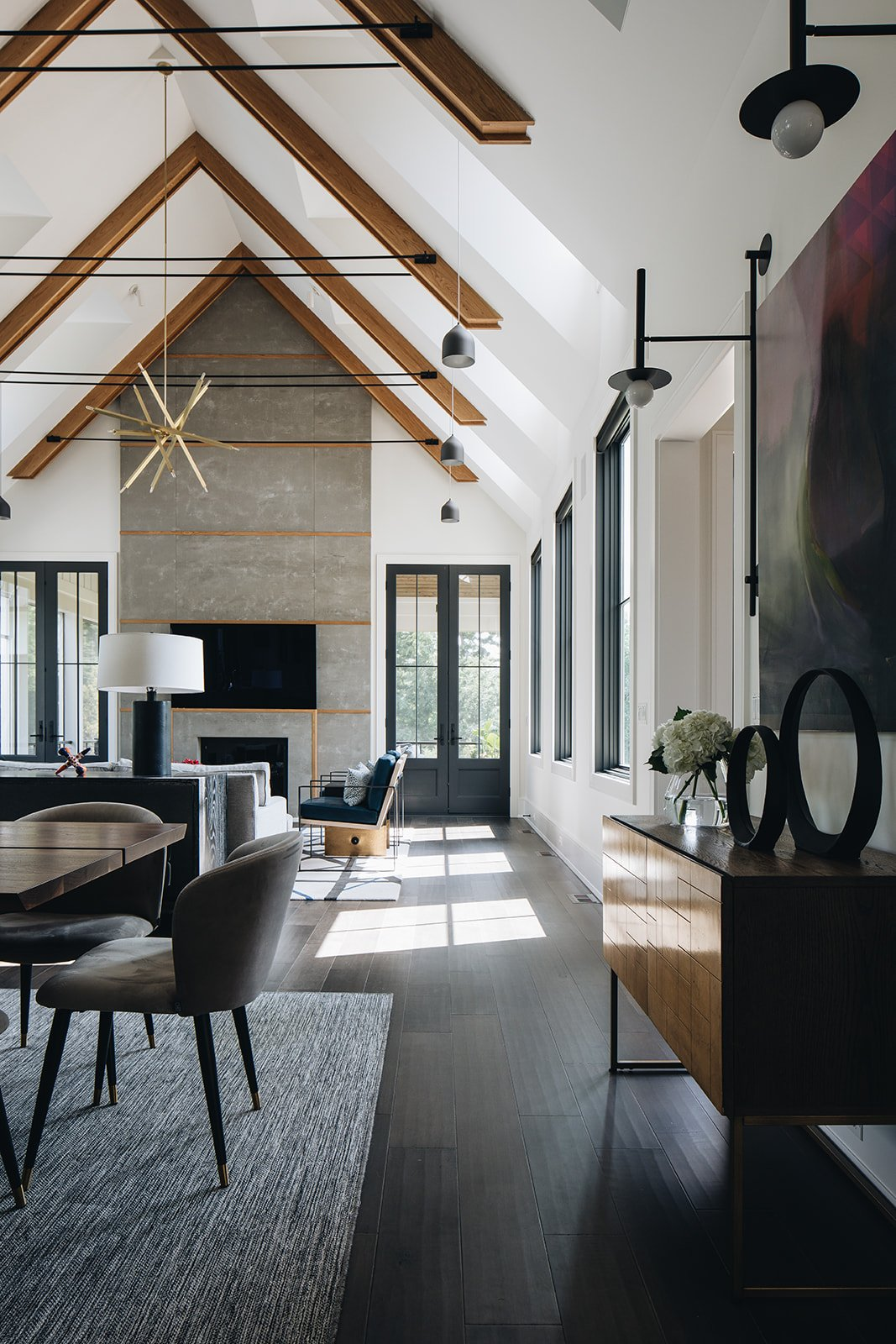 Image of great room in Aspen vs Wheaton showing lighting