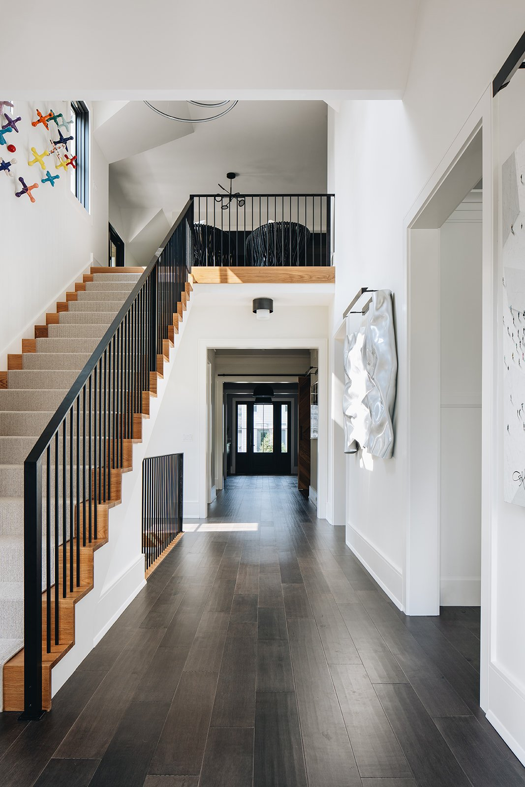Stairs and interior of Aspen vs Wheaton