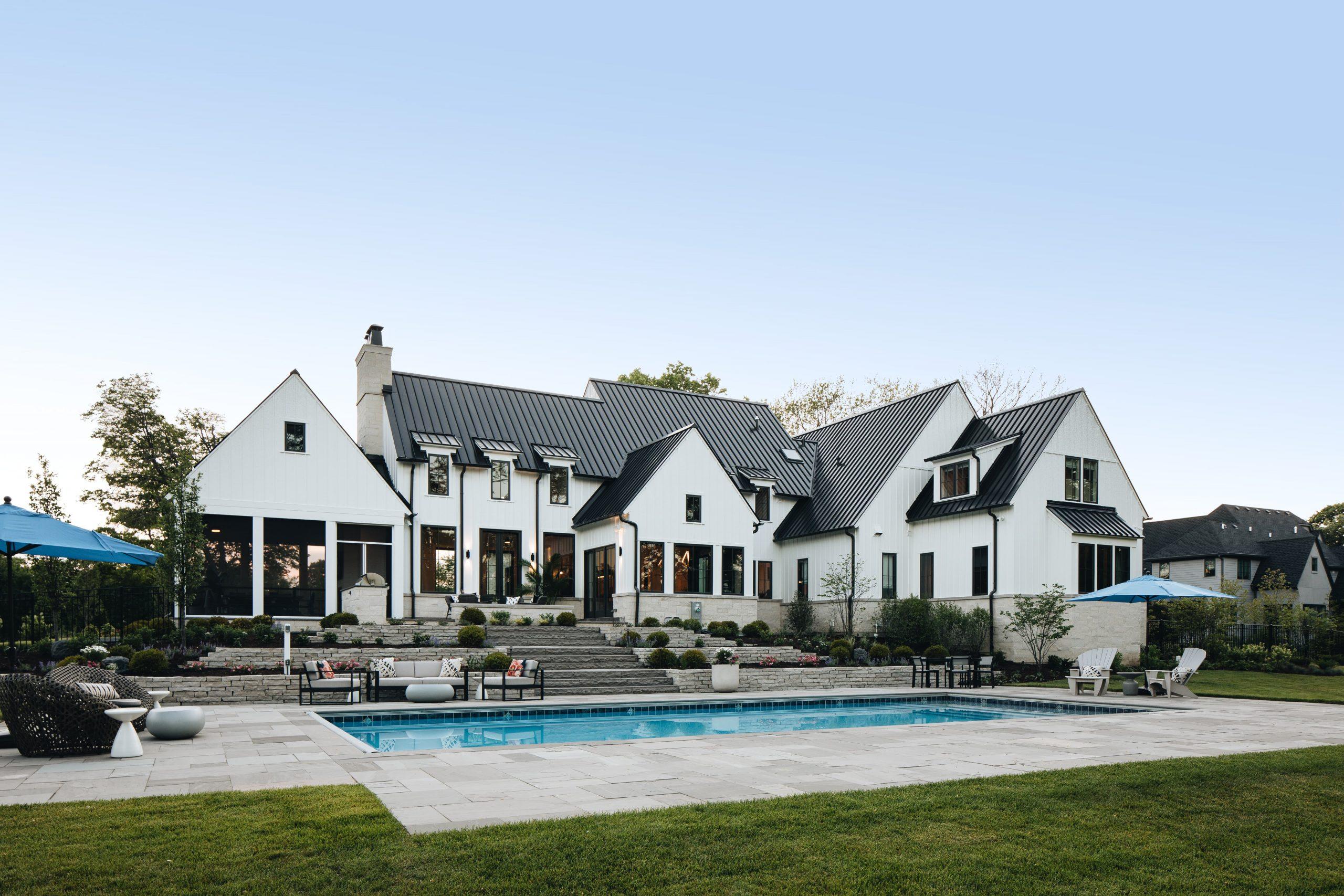 The backyard and pool of Aspen vs Wheaton